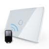 Intrerupator cu touch wireless RF, standard italian, panou de sticla, telecomanda inclusa, Livolo 7