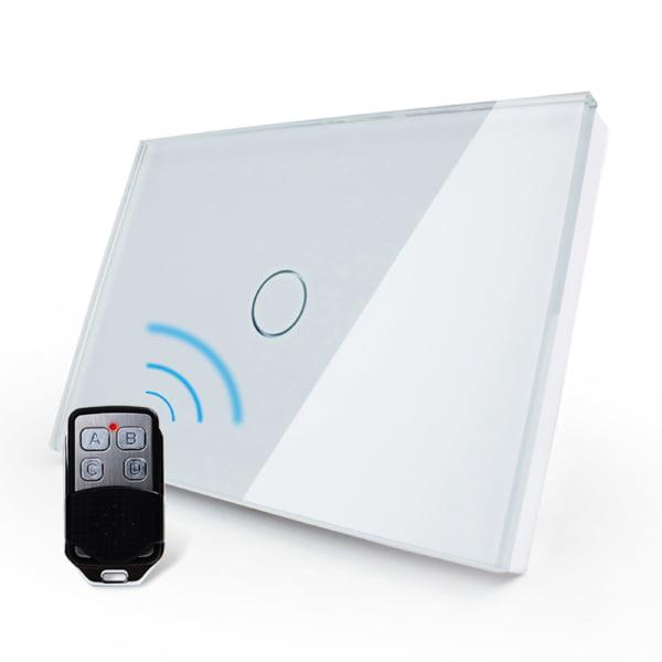 Intrerupator cu touch wireless RF, standard italian, panou de sticla, telecomanda inclusa, Livolo 19
