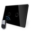Intrerupator cu touch wireless RF, standard italian, panou de sticla, telecomanda inclusa, Livolo 10