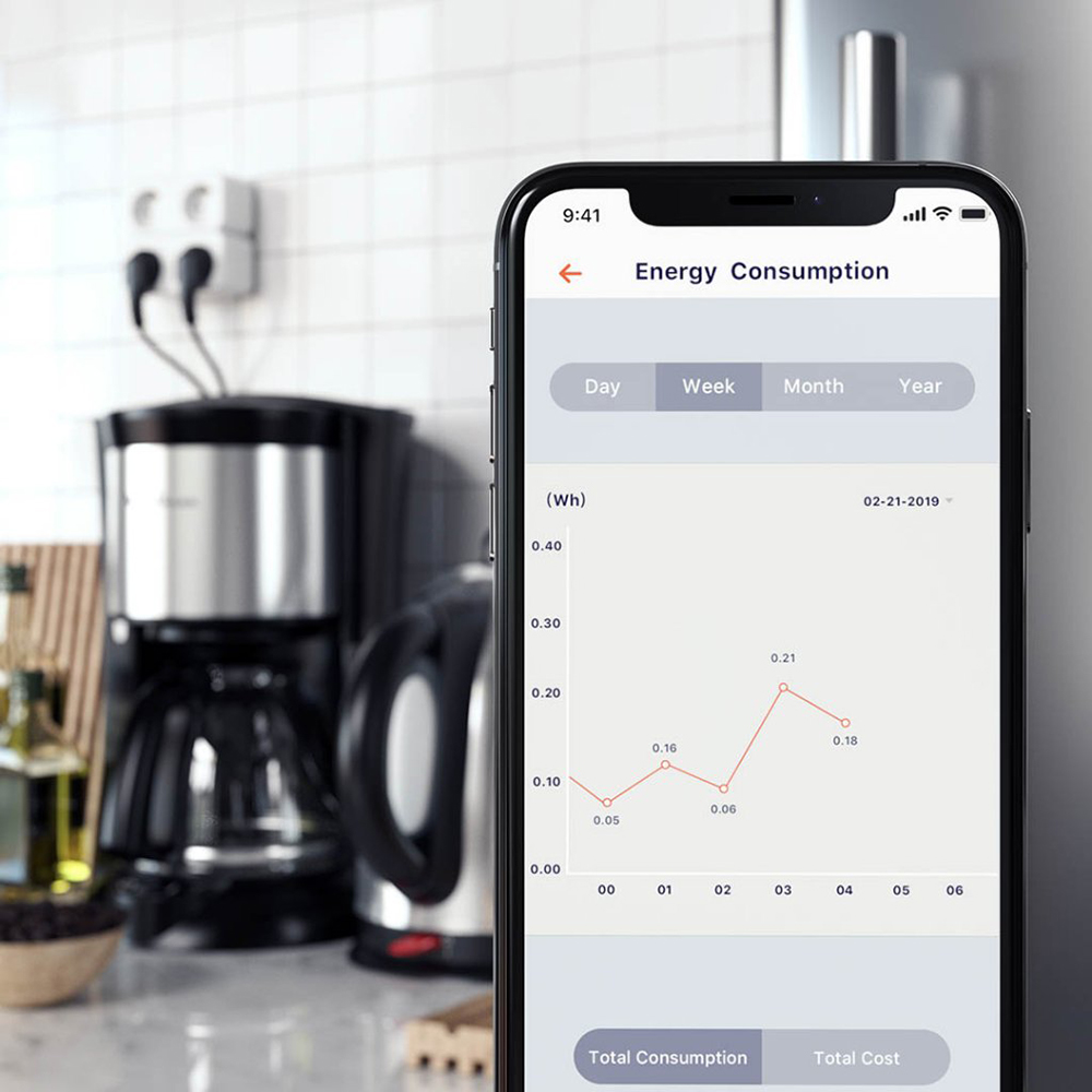 Priza inteligenta dubla Satechi, Compatibila cu Apple HomeKit, Monitorizare consum energie, Control din aplicatie 17