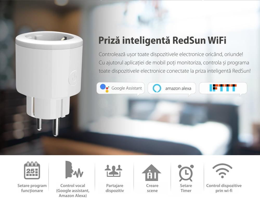 Priza inteligenta RedSun Wi-Fi cu monitorizare de energie si indicator led, Control de pe telefonul mobil 19