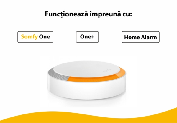 Sirena de exterior Somfy, 112 dB, Compatibil cu Somfy One, One+, Somfy Home Alarm 3