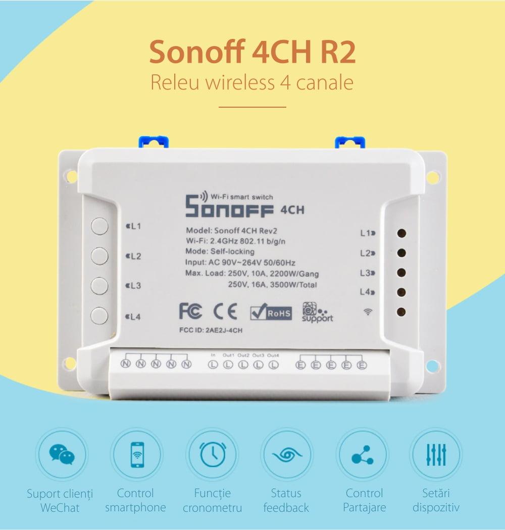 Releu Wireless 4 canale – Sonoff 4CH R2 13