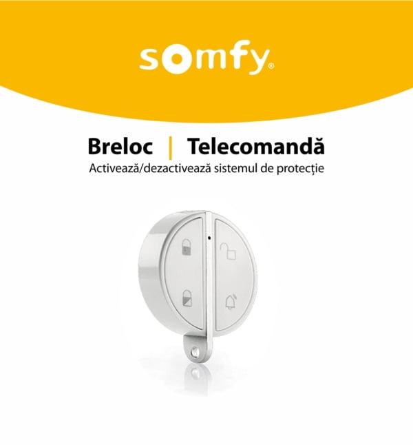 Telecomanda Somfy pentru alarma portchei, Compatibil cu Somfy One, One+, Somfy Home Alarm 3