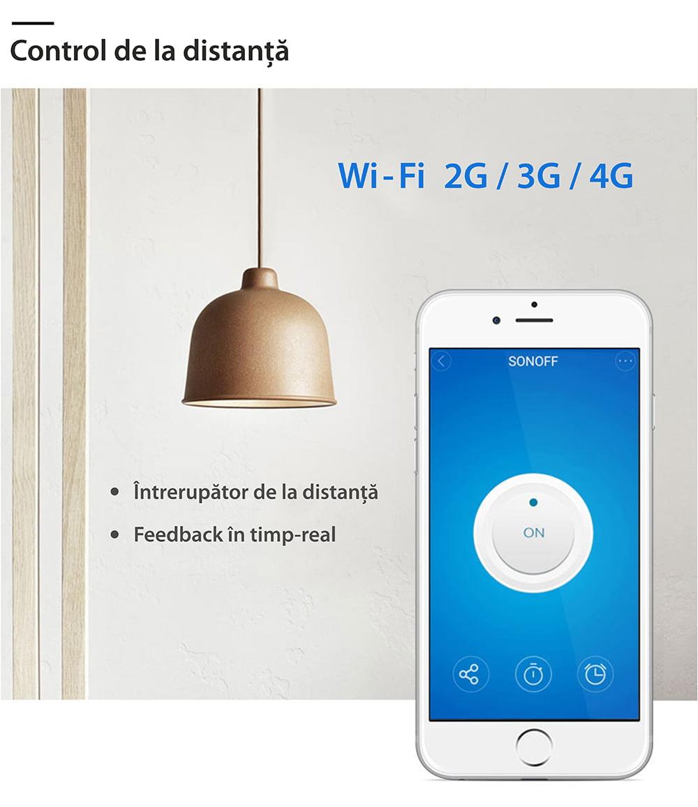 Dulie inteligenta Wi-Fi si RF E27 Sonoff 14