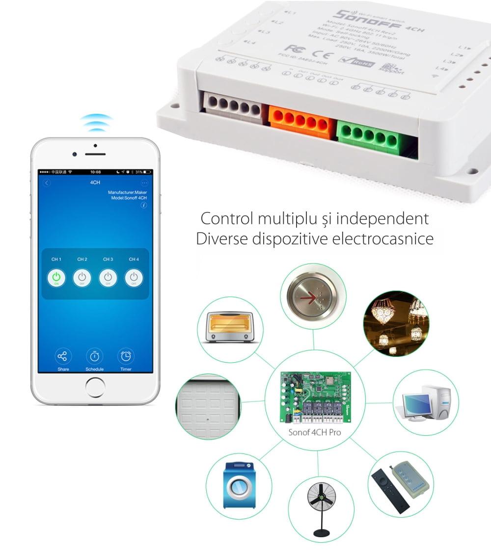 Releu Wireless 4 canale – Sonoff 4CH R2 21