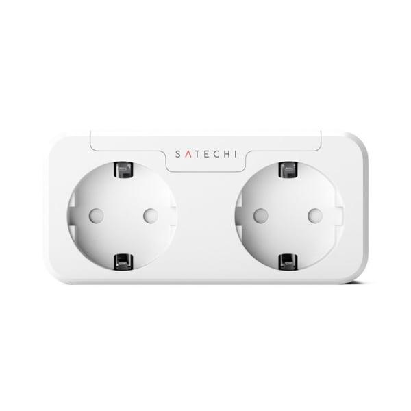 Priza inteligenta dubla Satechi, Compatibila cu Apple HomeKit, Monitorizare consum energie, Control din aplicatie 11