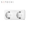 Priza inteligenta dubla Satechi, Compatibila cu Apple HomeKit, Monitorizare consum energie, Control din aplicatie 9