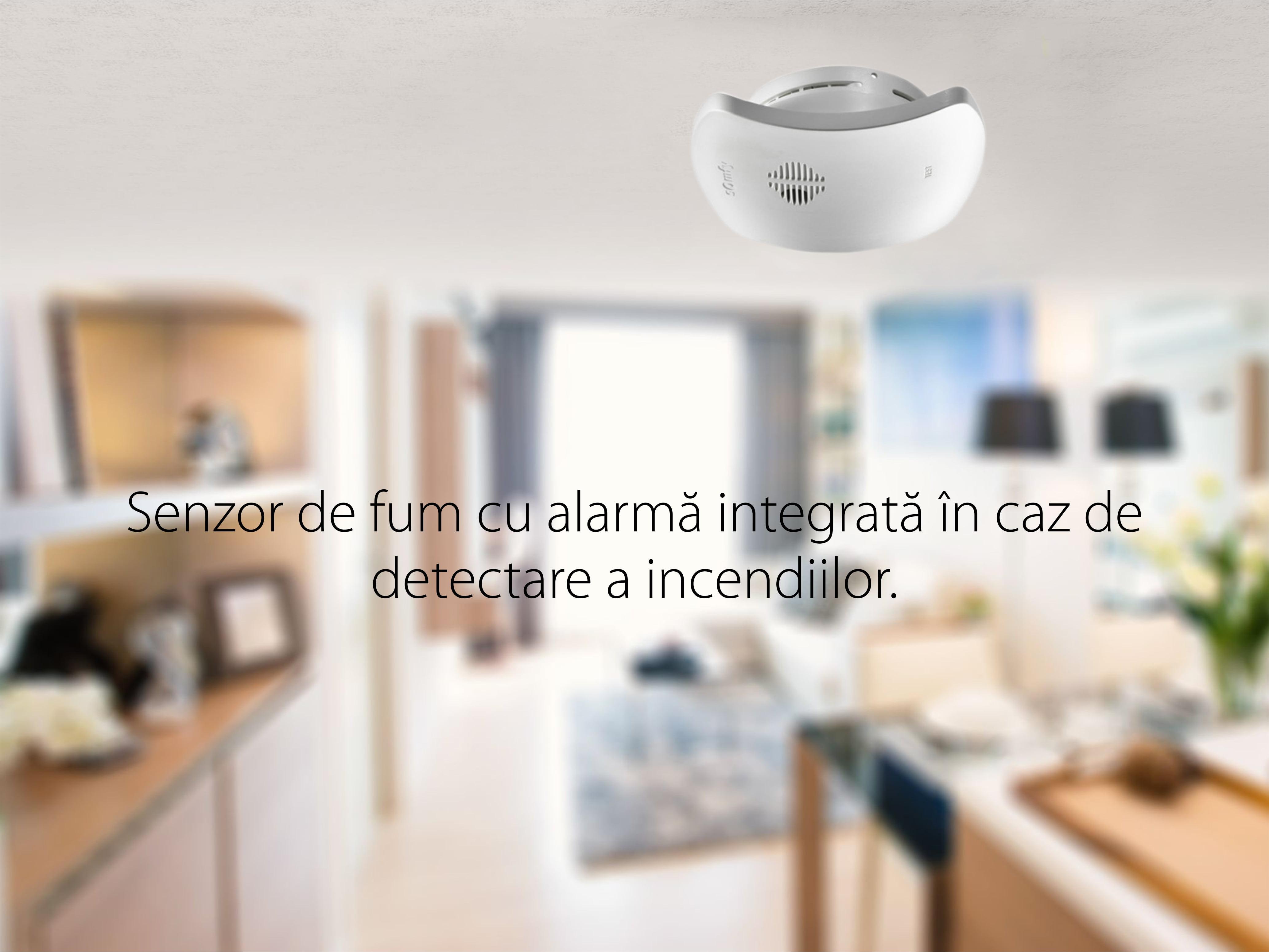 Senzor de fum TaHoma cu Alarma Integrata pentru Detectarea incendiilor, IP20, Frecventa radio 868-870 MHz 13