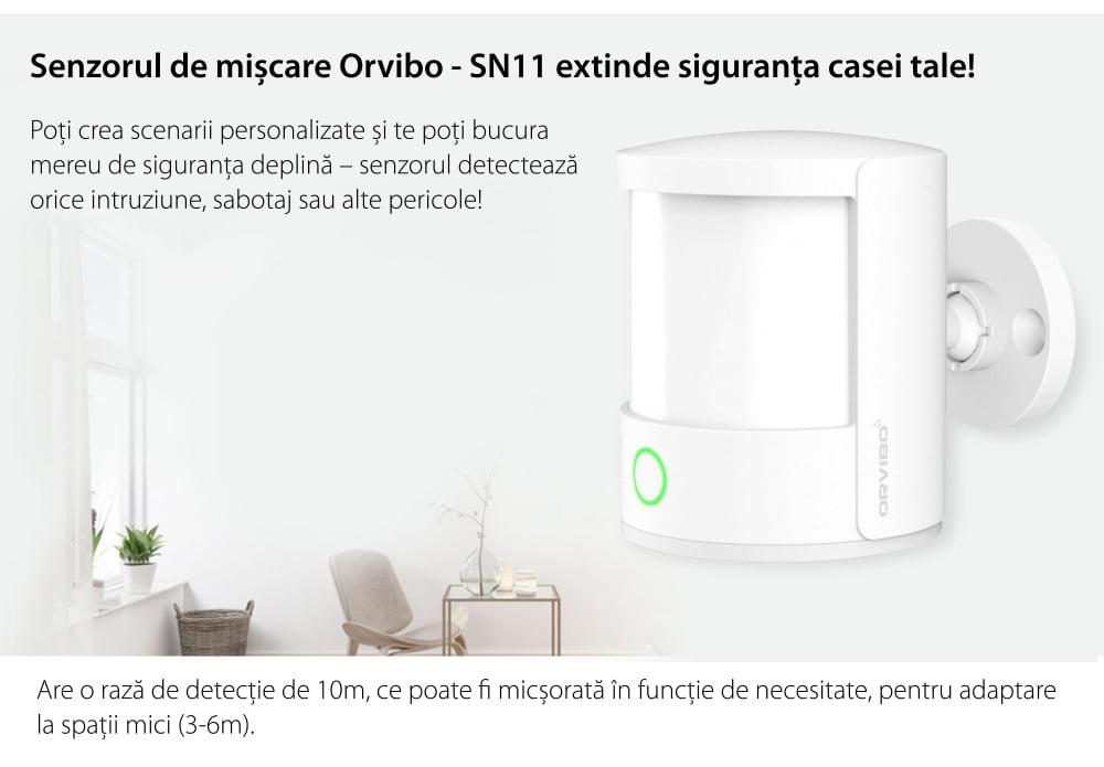 Senzor de prezenta si miscare Orvibo protocol ZigBee 12