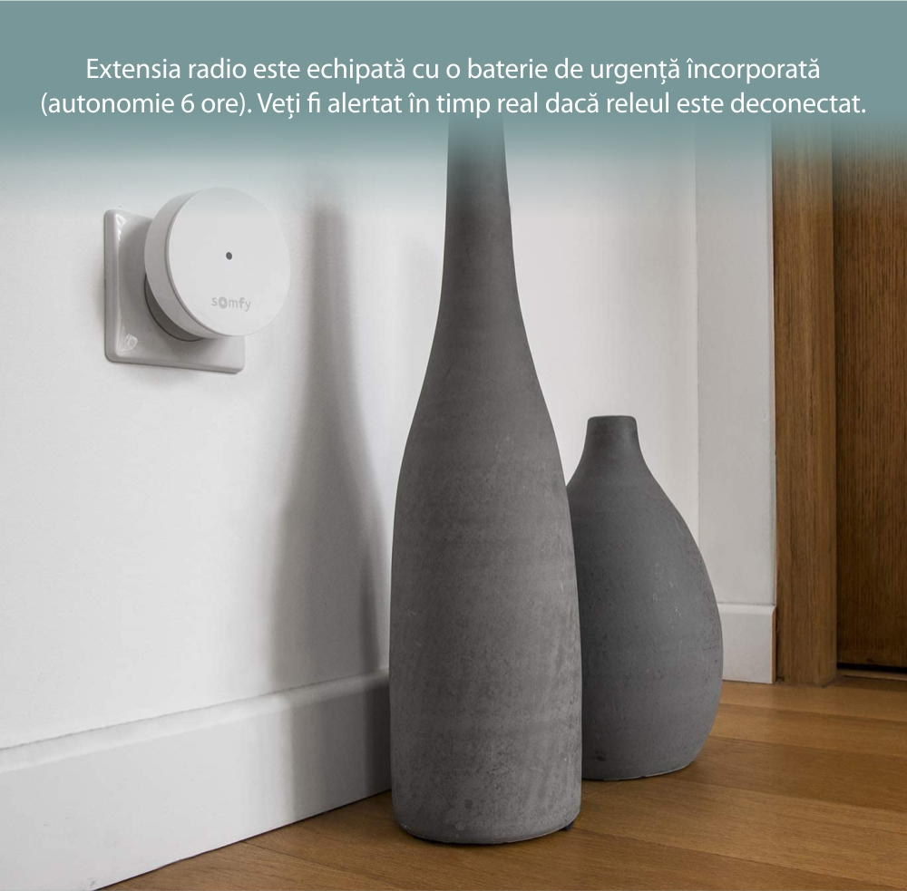 Extensie radio Somfy Protect, Compatibil cu Somfy One, One+, Somfy Home Alarm 23