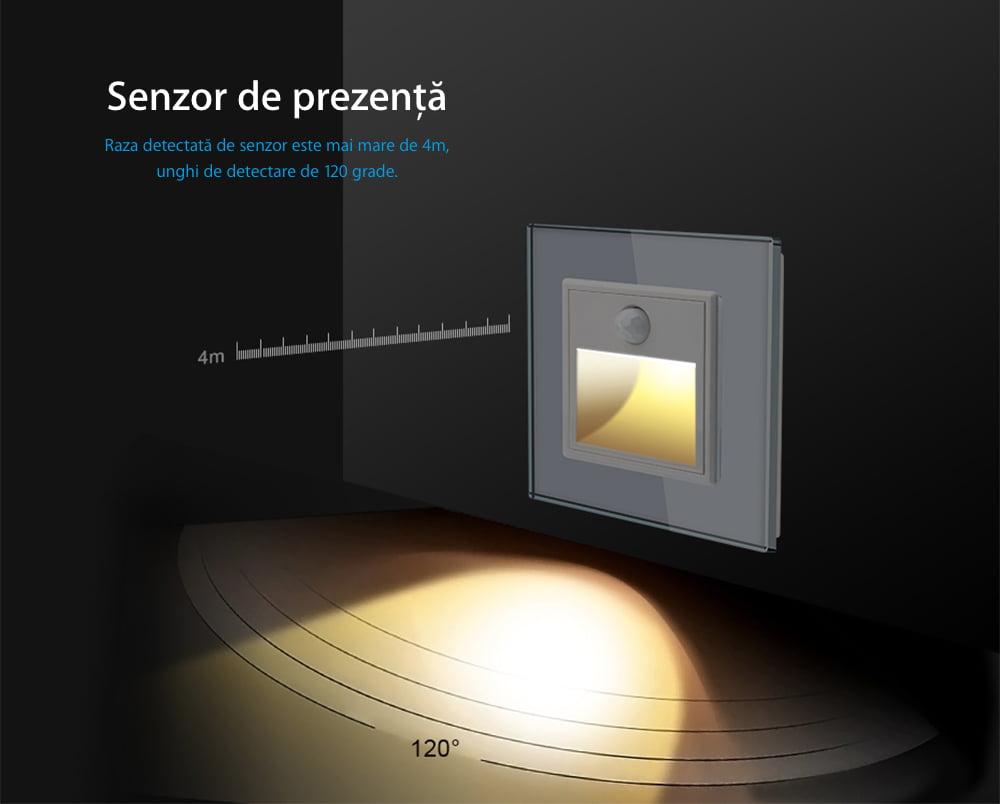 Modul Lampa de Veghe cu Senzor de Miscare si senzor Noapte/Zi Incorporat, Livolo 17
