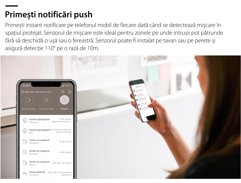 Senzor de prezenta si miscare Orvibo protocol ZigBee 11
