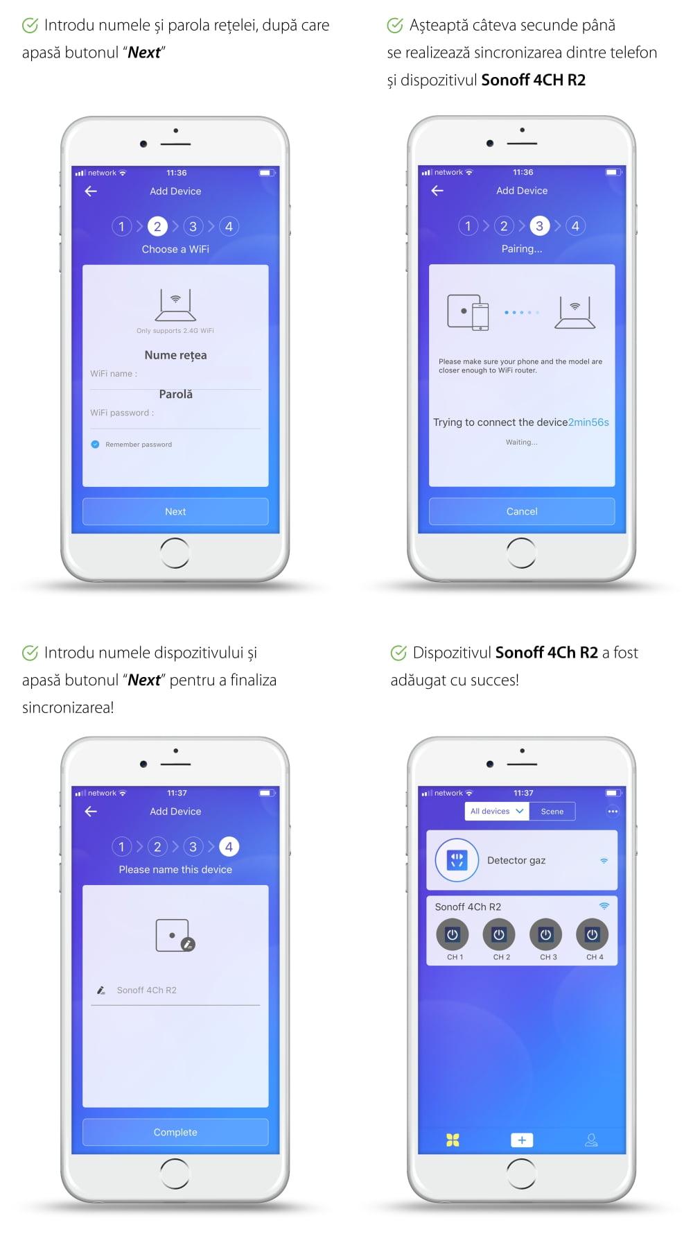 Releu Wireless 4 canale – Sonoff 4CH R2 19