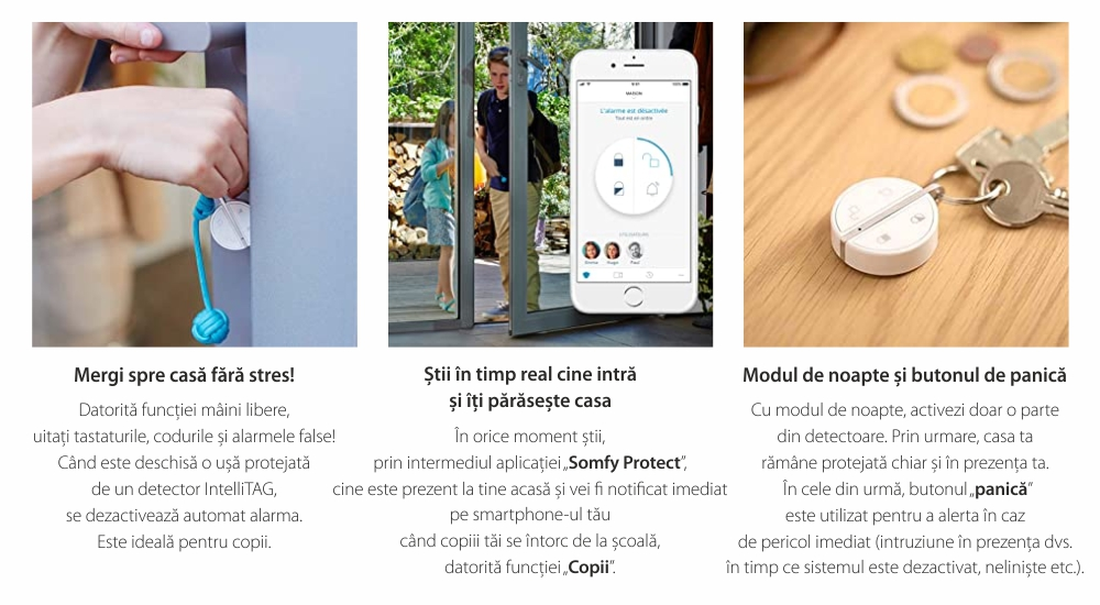 Telecomanda Somfy pentru alarma portchei, Compatibil cu Somfy One, One+, Somfy Home Alarm 25