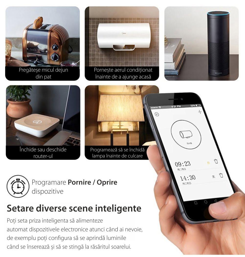Priza inteligenta RedSun Wi-Fi cu monitorizare de energie si indicator led, Control de pe telefonul mobil 15