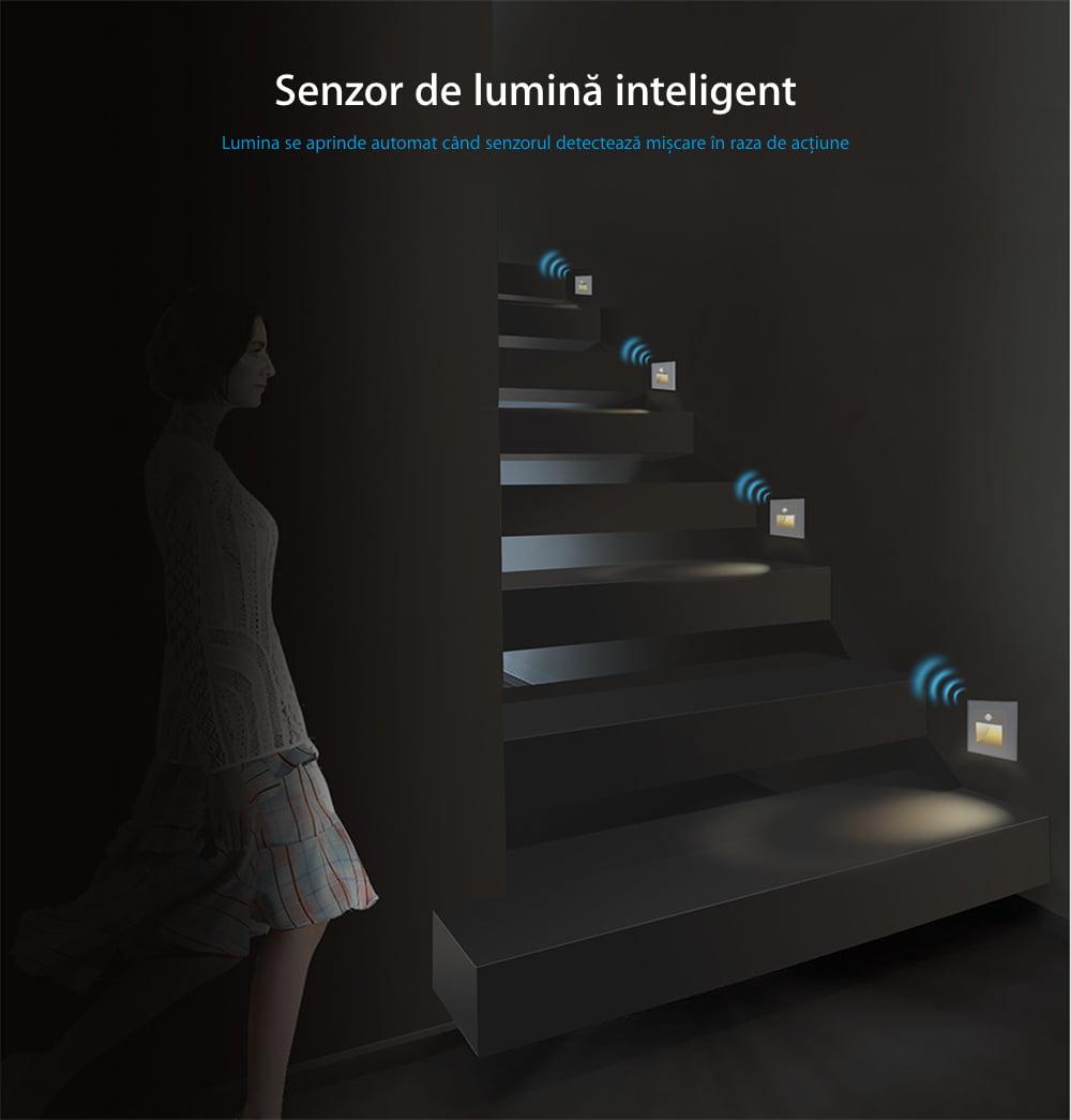 Modul Lampa de Veghe cu Senzor de Miscare si senzor Noapte/Zi Incorporat, Livolo 15