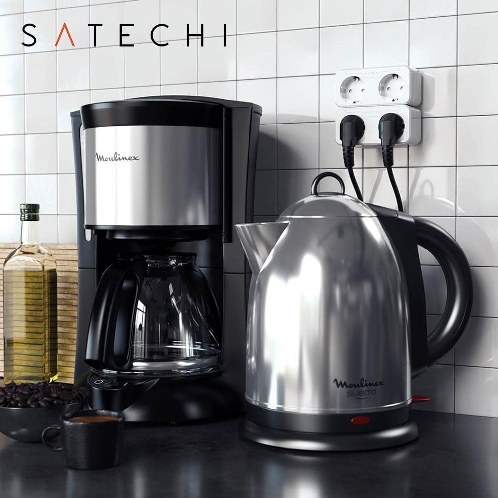 Priza inteligenta dubla Satechi, Compatibila cu Apple HomeKit, Monitorizare consum energie, Control din aplicatie 14