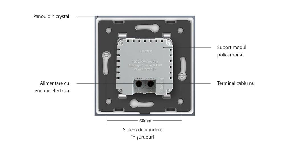 Modul Lampa de Veghe cu Senzor de Miscare si senzor Noapte/Zi Incorporat, Livolo 23