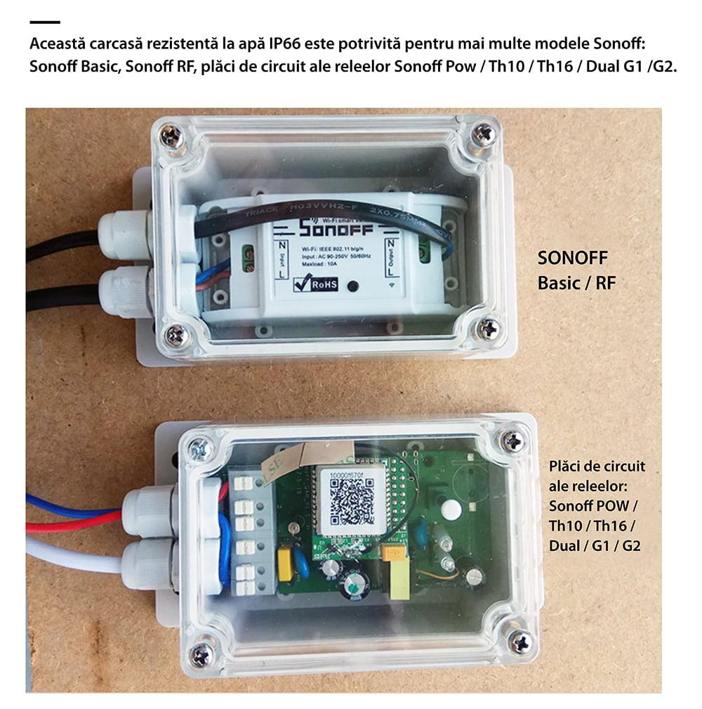 Carcasa rezistenta la apa pentru releu Sonoff IP66 11