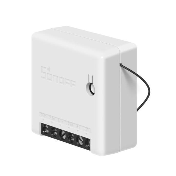 Releu Mini automatizare dispozitive electrocasnice Sonoff Mini, Setare interval de functionare, Control vocal, Control de pe telefonul mobil