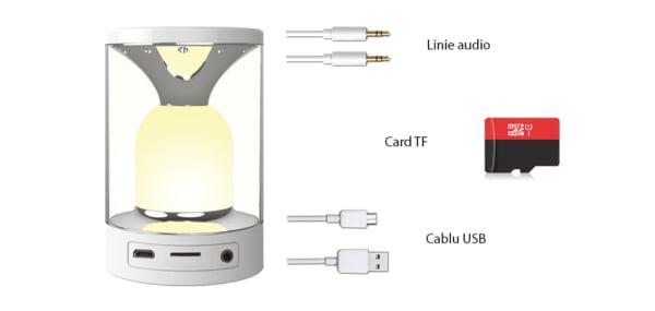 Lampa cu touch si boxa portabila RedSun RS-WBSL-C08 4