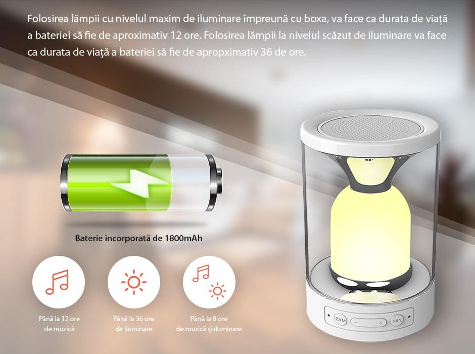Lampa cu touch si boxa portabila RedSun RS-WBSL-C08 11