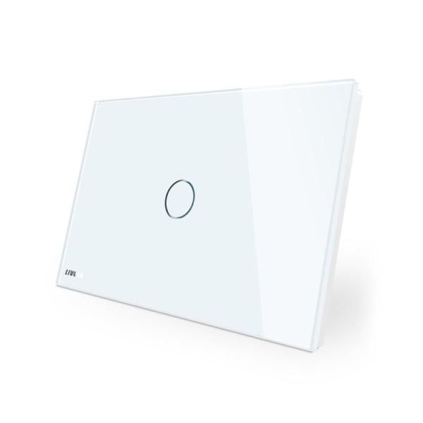 Intrerupator cu touch si variator (dimmer), standard italian, panou de sticla, Livolo 1