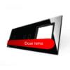 Panou intrerupator cu touch simplu + dublu + priza, din sticla, Livolo 9
