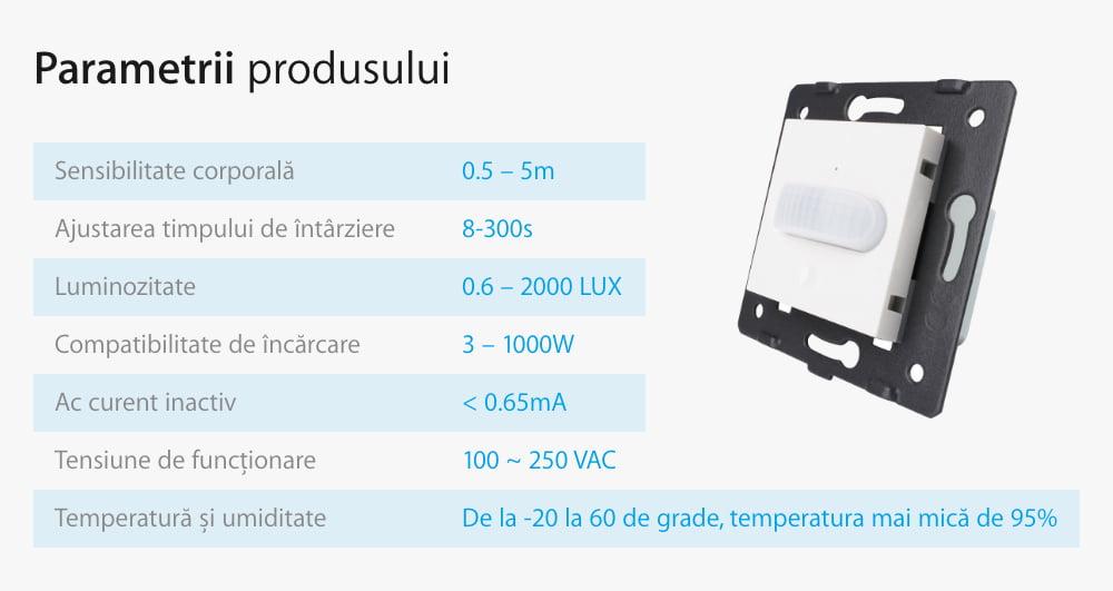 Modul senzor de miscare PIR pentru prizele din sticla Livolo 19