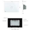 Intrerupator cu touch wireless RF, standard italian, panou de sticla, telecomanda inclusa, Livolo 12