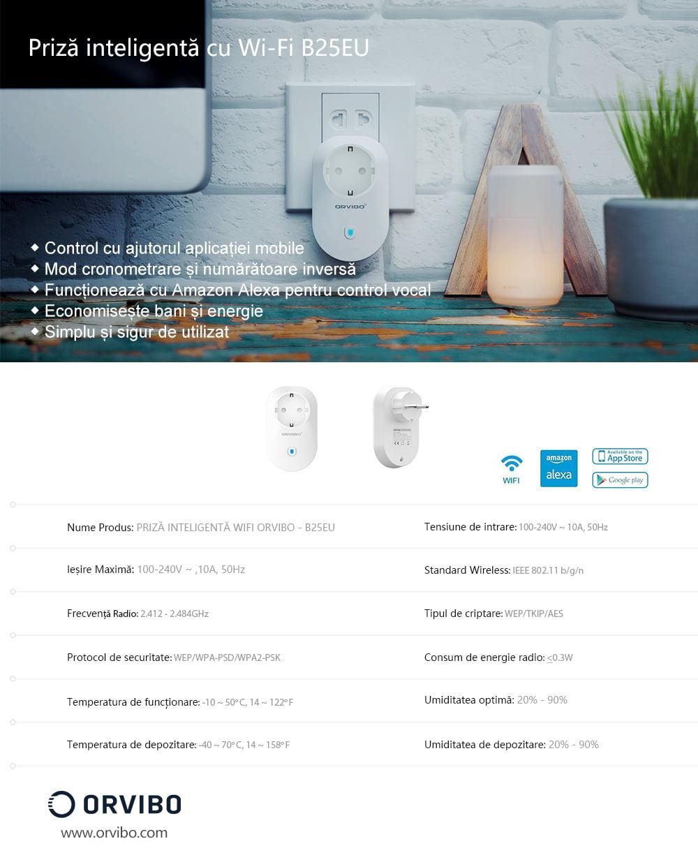 Priza Inteligenta Orvibo Wi-Fi B25EU, Control de pe telefonul mobil 20