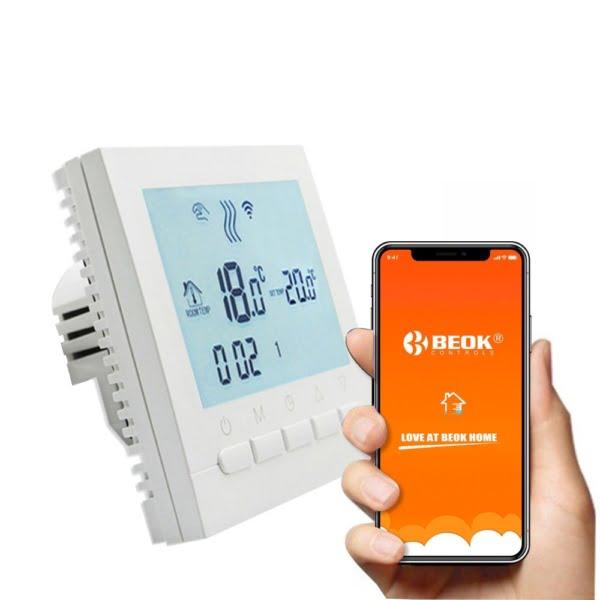 Termostat WiFi pentru centrala termica pe gaz si incalzire in pardoseala BeOk BOT-313WiFi 5