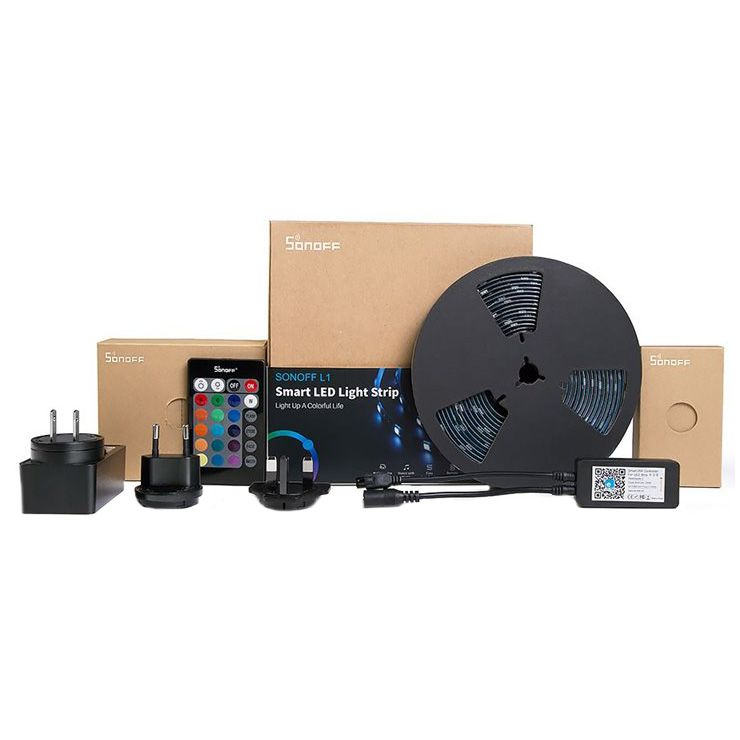 Banda inteligenta Wireless Light Strip LED RGB Sonoff L1, Lungime 2 m, Telecomanda inclusa, Control vocal, Control de pe telefonul mobil 11
