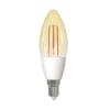 Bec inteligent LED Wi-Fi Homeflow B-5007, E14, 4.5W (25W), 400lm, dimabil, filament, lumina calda, Control de pe telefonul mobil 3