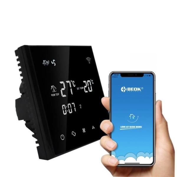 Termostat cu fir pentru aer conditionat BeOk TGT70WIFI-AC2, Control de pe telefonul mobil, Compatibil cu sisteme HVAC 2