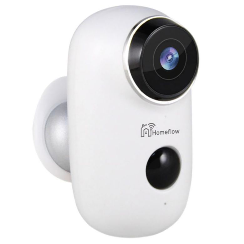 Camera de supraveghere inteligenta Wireless Homeflow C-6002, Comunicare bidirectionala, Detectie miscare