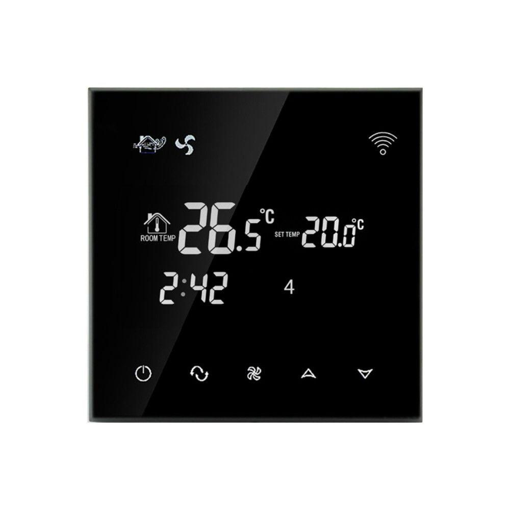 Termostat cu fir pentru aer conditionat BeOk TGT70WIFI-AC2, Control de pe telefonul mobil, Compatibil cu sisteme HVAC