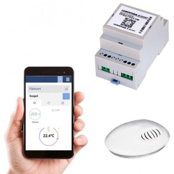 Termostat COMPUTHERM B300RF Wi-Fi cu senzor de temperatura fara fir, Timer, Control de pe telefonul mobil, Distribuire control acces 2
