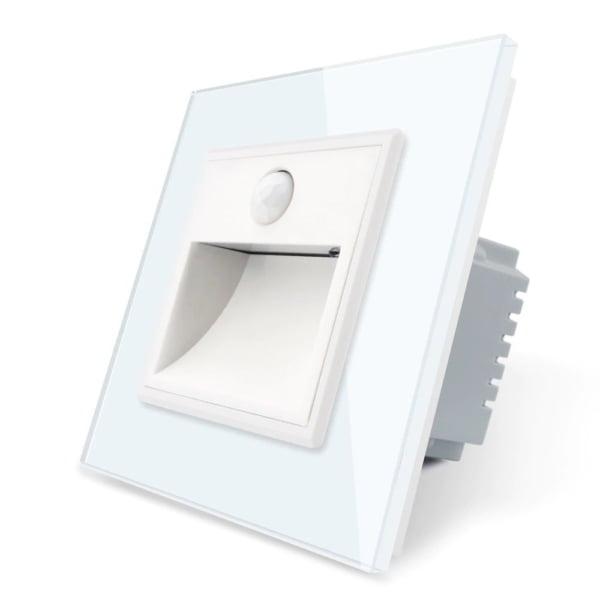 Lampa de veghe LED Livolo cu rama din sticla, Senzor miscare si senzor Noapte/Zi incorporat 4