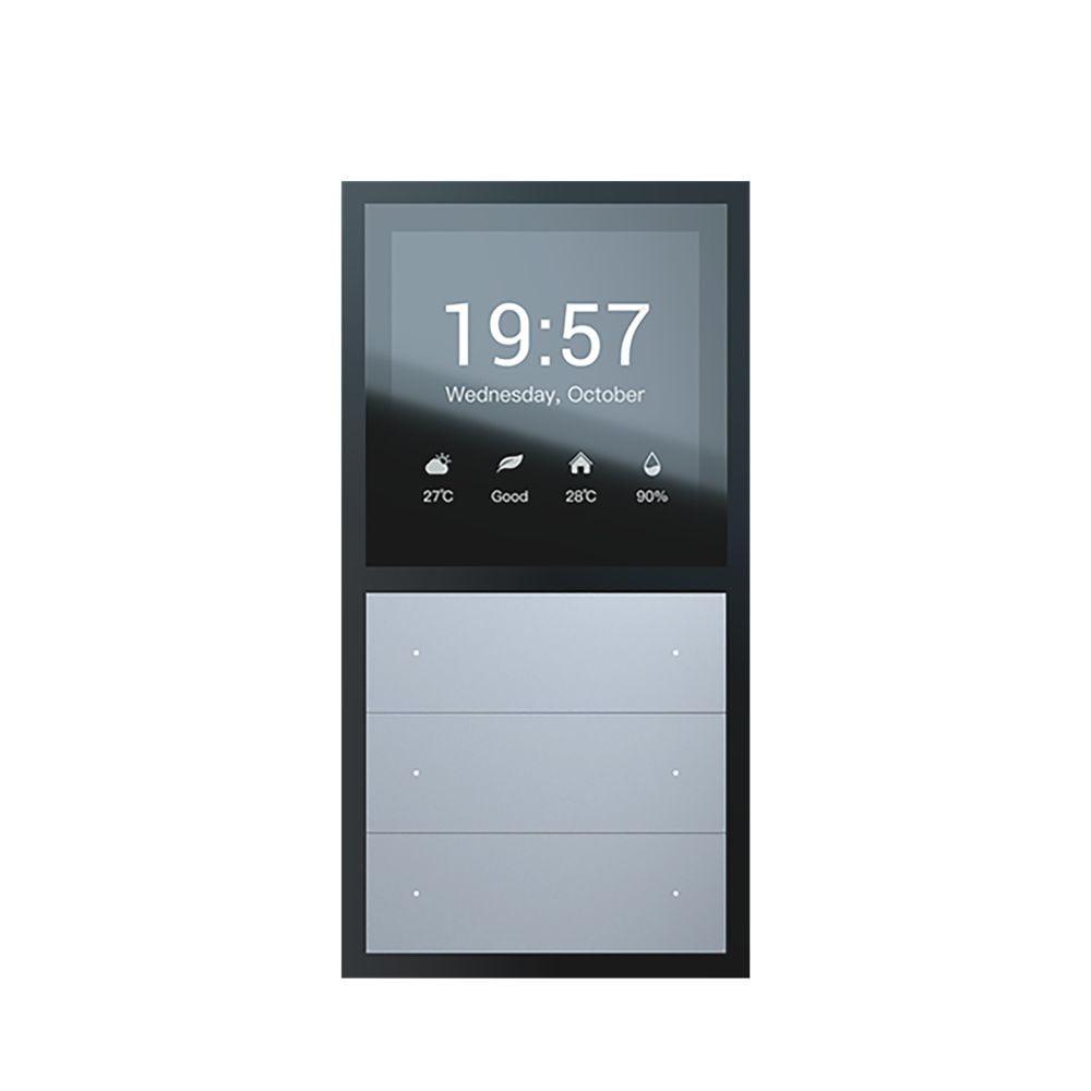 Panou multifunctional Smart Orvibo MixPad, Senzor temperatura, Senzor umiditate, Protocol Zigbee, Control lumini, Control rulouri exterioare, draperii, perdea, Control vocal, Control de pe telefonul mobil