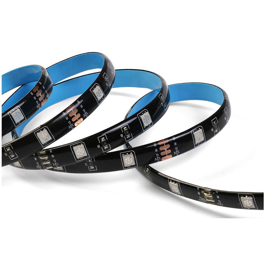 Banda inteligenta Wireless Light Strip LED RGB Sonoff L1, Lungime 2 m, Telecomanda inclusa, Control vocal, Control de pe telefonul mobil