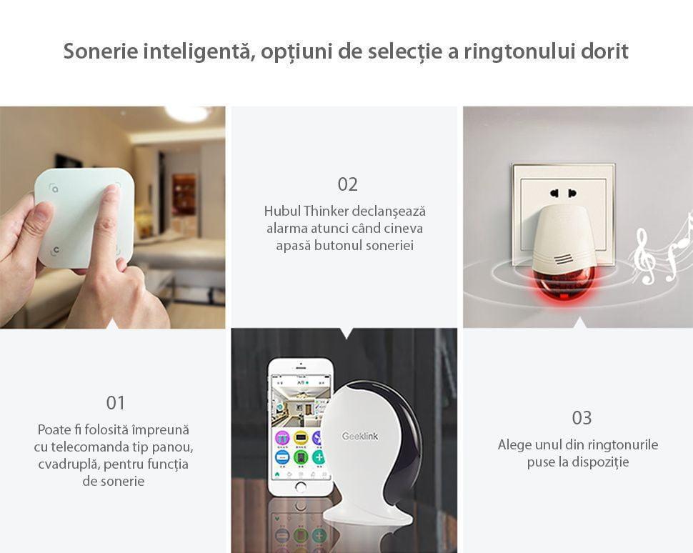 Sirena inteligenta wireless Geeklink 13
