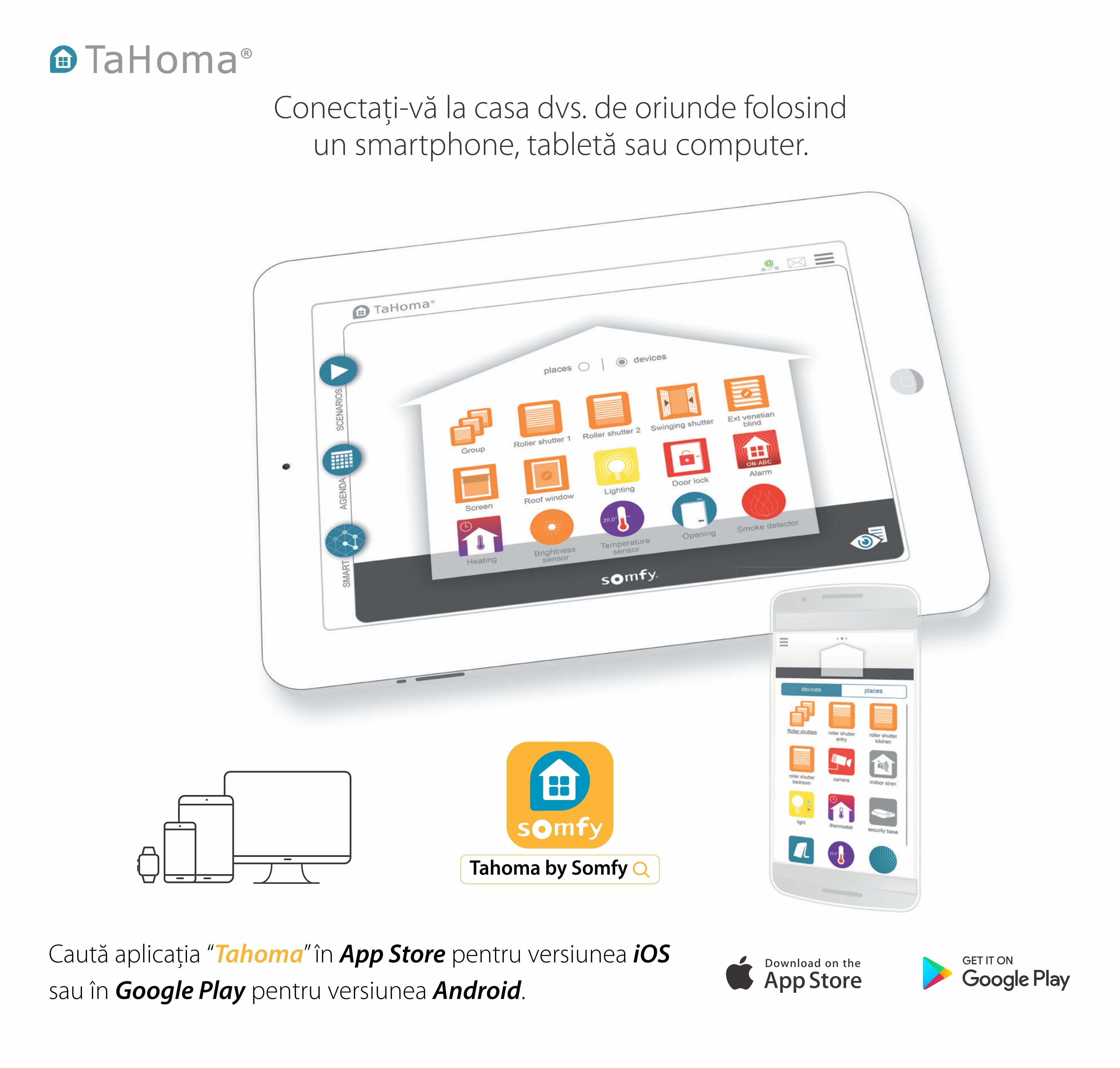 Unitate de comanda Somfy TaHoma DIY pentru controlul intregii locuinte, Compatibil cu Alexa, Google Home 13