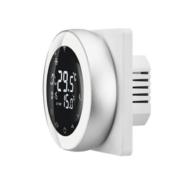 Termostat Wireless pentru incalzirea electrica in pardoseala Beok TGR87WiFi-EP, Functie Anti-inghet, Setare interval de functionare, Control de pe telefonul mobil 1